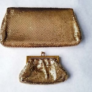 Whiting & Davis Bags - Whiting and Davis clutch and coin purse vintage